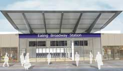 Designs for Ealing Crossrail Stations Looking Up