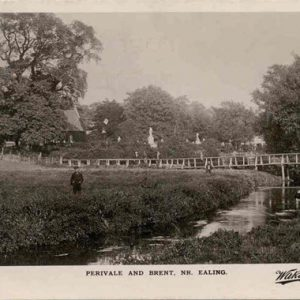 Perivale Church and River Brent – c1910