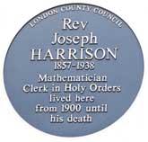 Rev Joseph Harrison