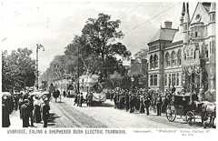Tram outside Ealing Town Hall - 1901