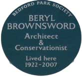 Beryl Brownsword plaque